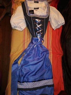 Vestido Dirndl blanco-azul