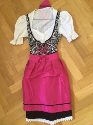 Dirndl multicolored mixture fibre