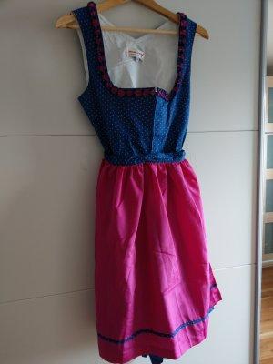 Dirndl, Original Steindl, Gr. 38, pink / blau (wie NEU!)