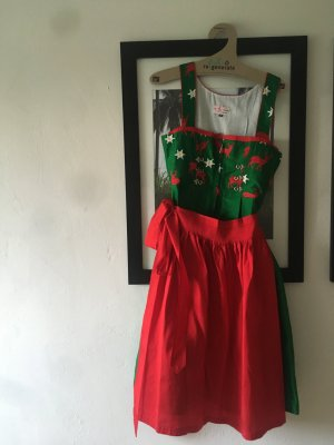 Original Steindl Dirndl red-forest green