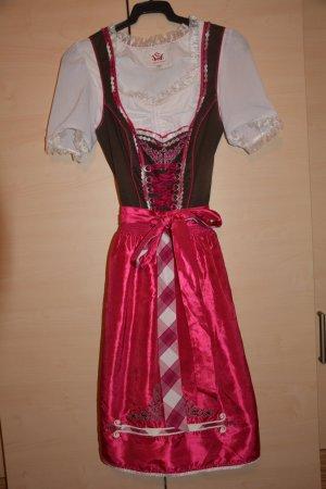 Dirndl pink/braun