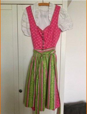 Dirndl pink / grün (Größe 38)