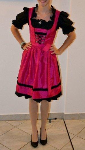 Dirndl, pink schwarz