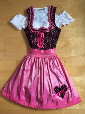 Dirndl pink/schwarz in Gr. 32/34