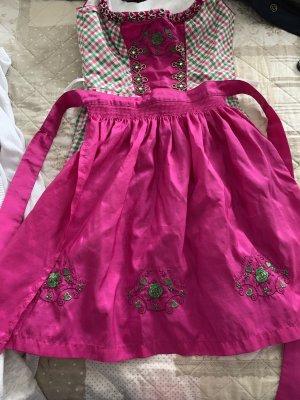 Dirndl rosa grün