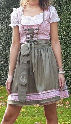 Dirndl rosa grün weiss Oktoberfest mit Bluse