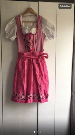 Dirndl rosa/weiß Tracht
