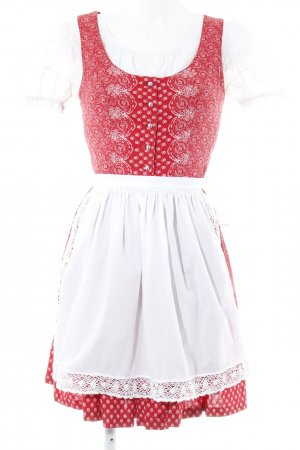 Dirndl rot-weiß abstraktes Muster Country-Look