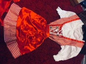 Dirndl white-red