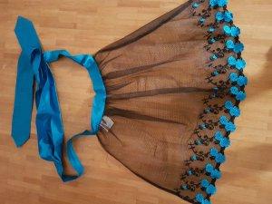 Original Steindl Folkloristische schort zwart-blauw