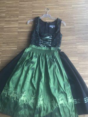 Dirndl schwarz/grün