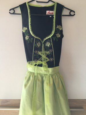 Fuchs Trachtenmoden Traditional Dress meadow green-black