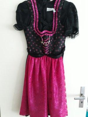 Dirndl schwarz/pink