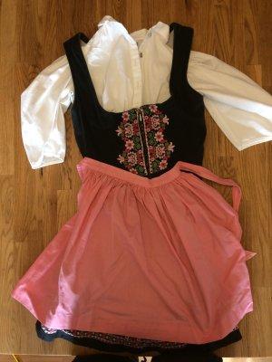 Dirndl schwarz rosa Größe 34 - 36