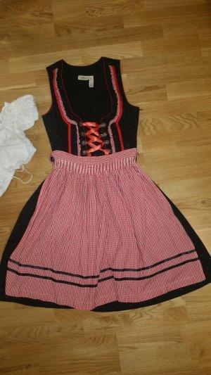 Dirndl schwarz/rot in Größe 36