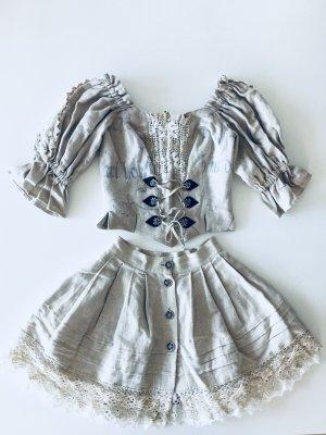 Country Line Traditionele jurk lichtgrijs