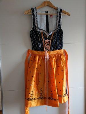 Dirndl, Spieth & Wensky, Gr. 36-38, schwarz / orange