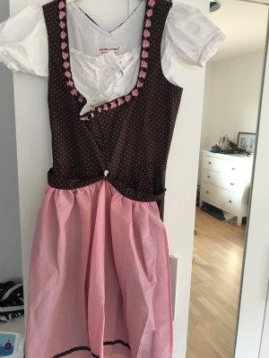 Dirndl Steindl braun/rosa