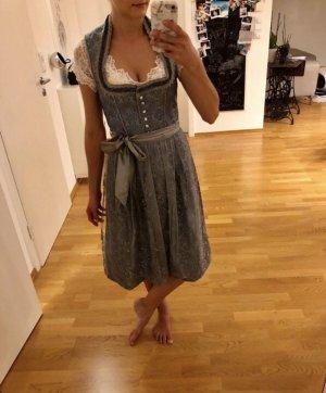 Dirndl Stockerpoint s xs 34 36 grau blau spitze Tracht Oktoberfest Mode Fashion Blogger