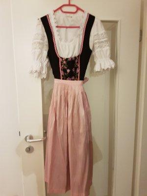 Vestido Dirndl negro-color rosa dorado