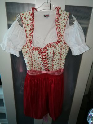 Alphorn Dirndl white-red