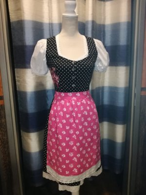 Vestido Dirndl negro-rosa