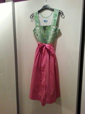 Berwin & Wolff Vestido Dirndl rosa-verde