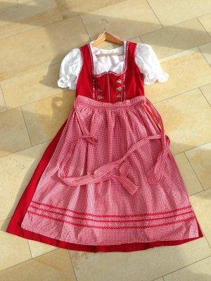 Dirndl, Trachtenmode, rot, Gr.40, weiße Bluse, Gr.38, Spieth&Wensky Dirndl