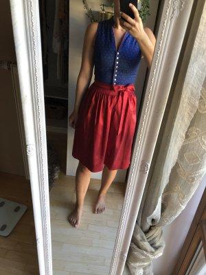 edelheiss Dirndl bleu-rouge foncé coton
