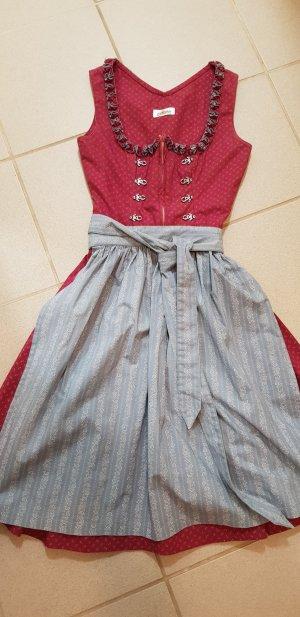 Almsach Vestido Dirndl violeta-azul pálido