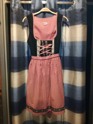 Dirndl von Alphorn, schwarz, Trachtenkleid, Leinen, Kleid mit Schürze, Leinenkleid