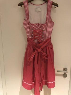 Angermaier Vestido Dirndl rosa-blanco