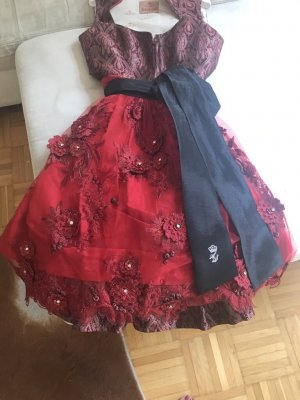 Astrid Söll Dirndl black-dark red