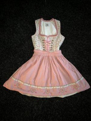 Vestido Dirndl gris claro-rosa