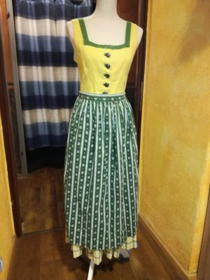 Hasegg Dirndl yellow-green linen