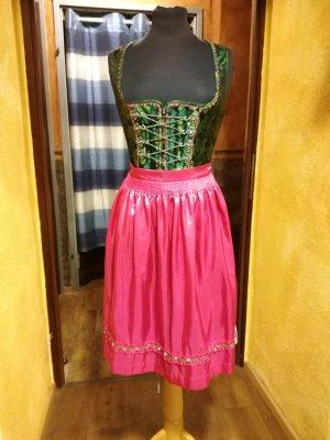 Dirndl rosa-verde