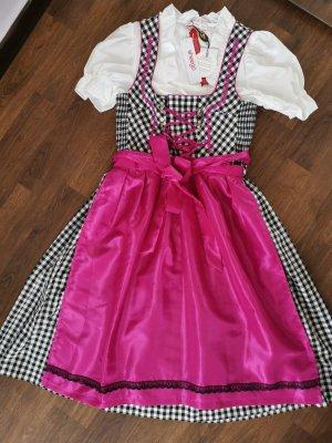 Sheego Dirndl zwart-roze