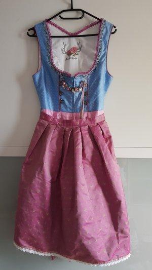 Stockerpoint Vestido Dirndl rosa claro-azul claro
