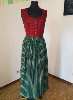 Tramontana Vestido Dirndl rojo oscuro-verde bosque