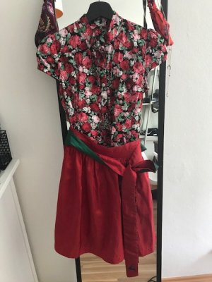 Wiesnkönig Dirndl red-forest green