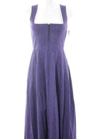 Vestido Dirndl blanco-violeta oscuro estampado floral estilo clásico