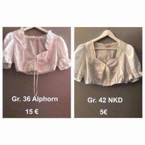 Alphorn Blusa tradizionale bianco