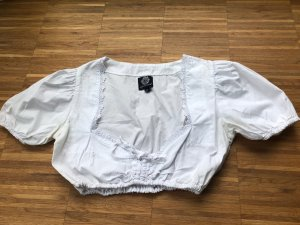 Almenrausch Blouse à manches courtes blanc coton