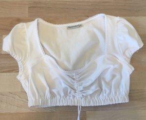 Alpentracht Folkloristische blouse wit Katoen