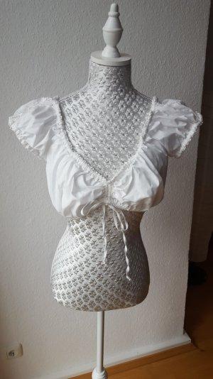 Spieth & Wensky Blouse bavaroise blanc cassé coton