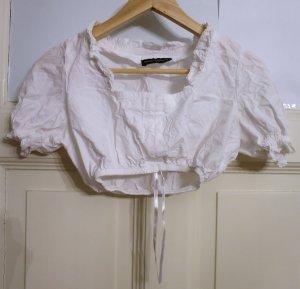 Golden Trachten Folkloristische blouse wit Katoen