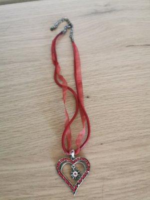 Collier argenté-rouge