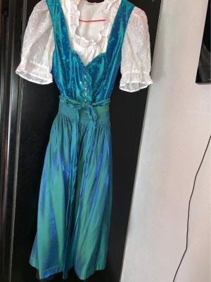 Country Line Shortsleeve Dress cadet blue