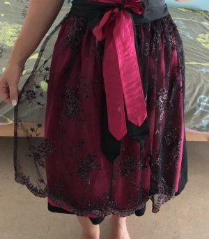 Melega Traditional Apron black-pink