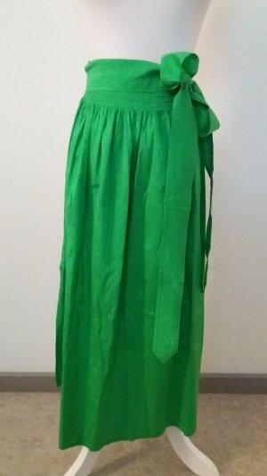 Folkloristische schort groen Zijde